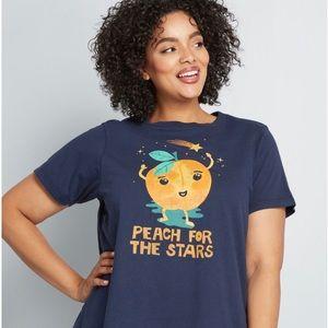 💥Modcloth Tee Shirt Peach 🍑 for the Stars ✨ 💥